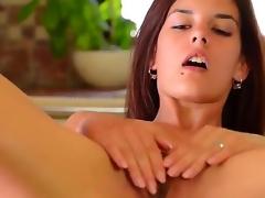 Amazingly hawt kitty Candice Luca toys her vagina