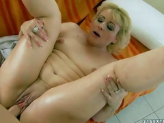 Fuck hungry mature blonde Barbie with small tits and hairless fur pie gets banged hardcore style by her young fuck buddy. Guy drills her wet experienced vagina in a multiformity of positions