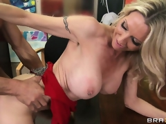 No matter what position the sexy blonde is being pounded this babe can't receive sufficiently of it