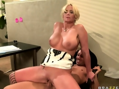 Busty bitch almost passes out from pleasure on top of big ramrod