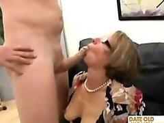 Librarian horrific granny fulfill her sex dream