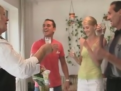 Excited gf gets dirty with in laws