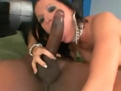 Super nice-looking milf interracial sex